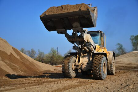 excavator at the site