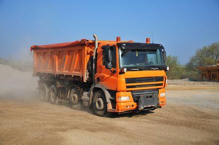 trucks at the construction site Banque d'images