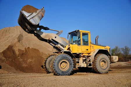 excavator at the construction site