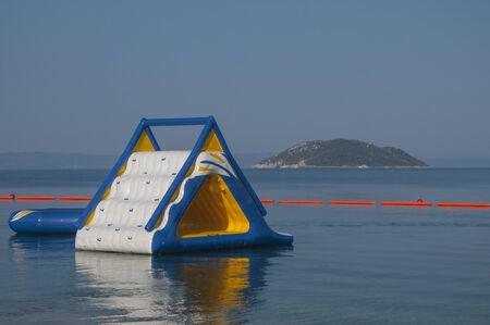 children s playground on the water  photo