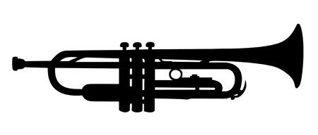 Trumpet silhouette Illustration