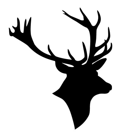 鹿頭のシルエット 写真素材 - 46113495