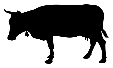 cow silhouette: Cow Silhouette Illustration