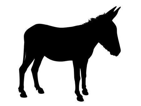 Donkey silhouette Ilustração