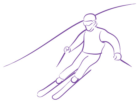 competitions: Skiing man on competitions