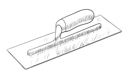 Plastering trowel illustration