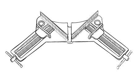 clamp: Angle clamp for mounting components at right angles.