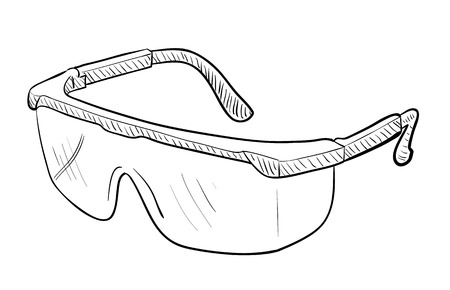 Occhiali di sicurezza Disegno Archivio Fotografico - 50507702