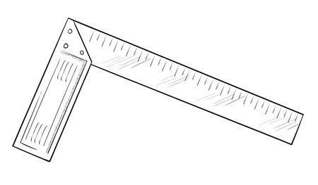 acute angle: Carpenters Square Illustration