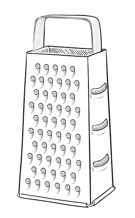 stainless steel kitchen: Metal grater Illustration