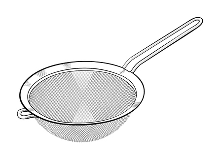 stainless steel kitchen: Strainer Sieve Kitchen Utensil
