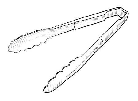 tongs: Serving Tongs, Kitchen Tool, isolated on white background