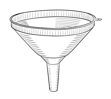 worktool: Funnel in black and white design on white background