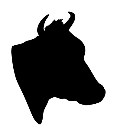 Cow head silhouette Stock Vector - 52124441