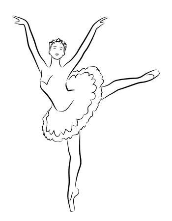pirouette: Dancing ballerina, Illustration Illustration
