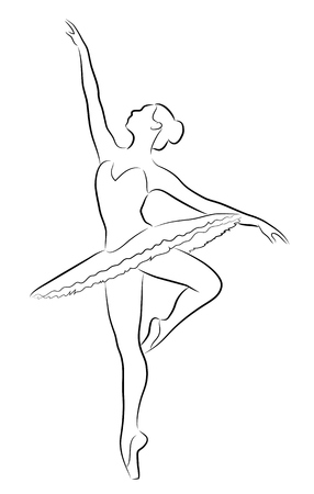 Taniec baleriny Ilustracje wektorowe