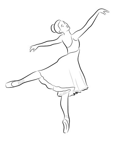lyrical dance: Dancing ballerina