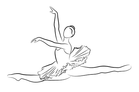 lyrical dance: Dancing ballerina, Illustration Illustration