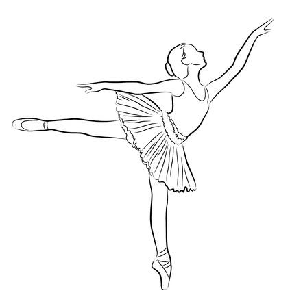 Ballerina, illustrazione Archivio Fotografico - 53230731
