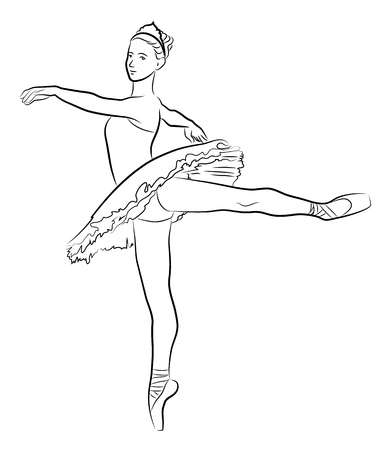 lyrical: Dancing ballerina, Illustration Illustration