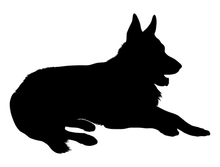 German Shepherd Silueta