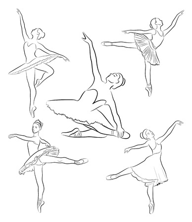 immagine di ballerini in varie pose di danza