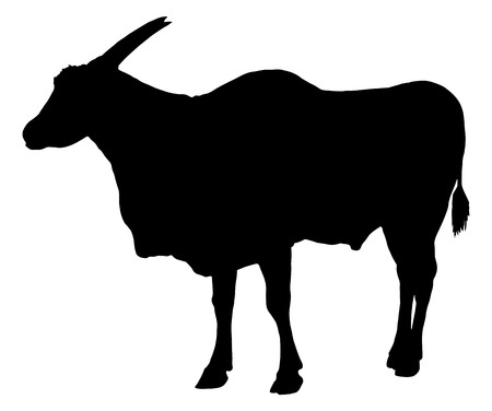 Eland antilope silhouet Stock Illustratie