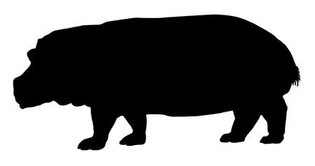 Hippopotamus silhouette Иллюстрация