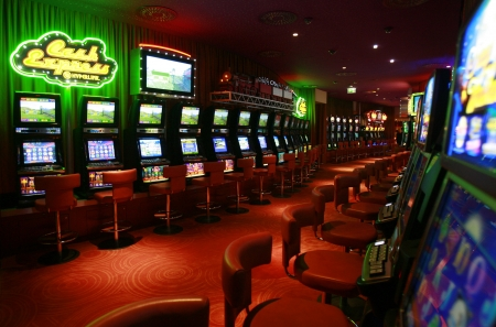 BELGRADE, SERBIA - August 02, 2008  Slot machines in newly opened  Grand Casino  the biggest and most luxurious casino in Serbian capital city, Belgrade   photo  Pedja Milosavljevic