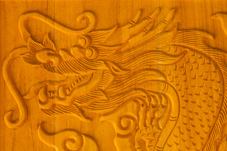China s traditional decorative wood carving craft photo