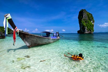 beautiful beach and tropical sea, Krabi, in thailand.