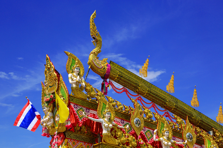 The beauty of the culture and tradition, Rocket festival, of Thailand. 에디토리얼
