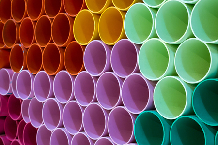 The colors and patterns of PVC pipes for the background.