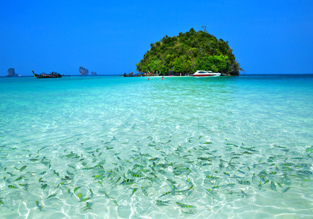 The beauty of the tropical sea in Thailand.