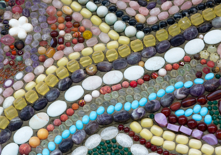 Colorful pattern of beads for background.