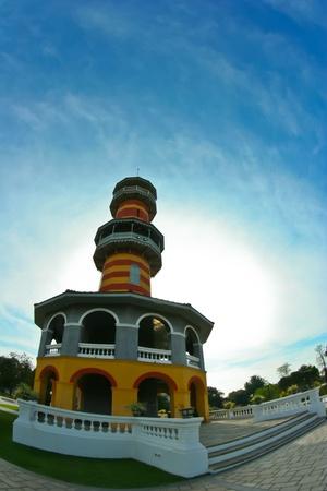 observatory,bang pa-in royal palace,thailand photo