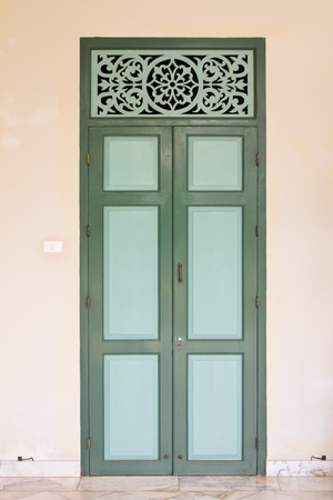 classic door in thailand Stock Photo