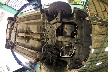 disassemble: car under repair