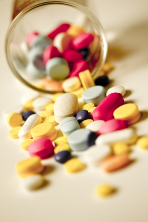 Assorted pills  Stock Photo