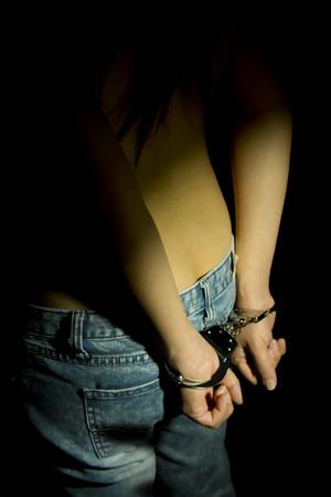 women  in handcuffs  photo