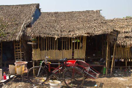 slum: slum house in yangon,myanmar