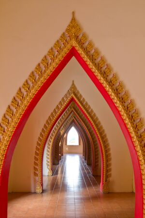sue: Tunnel door in the thai church ,wat tum sue, Thailand