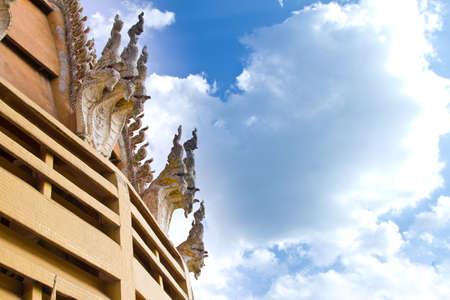 sue: Roof with blue sky,wat tum sue ,thailand