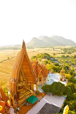 sue: The golden Buddha Image, Wat Tum Sue, Thailand Stock Photo