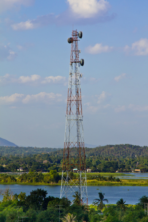 Cell phone tower in countryside