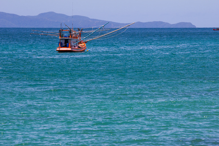 National fishing boat in the sea of Thailand