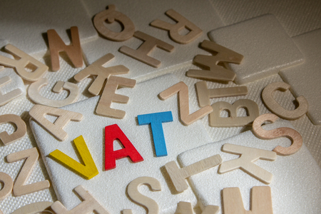 VAT (Value Added Tax) concept. Word