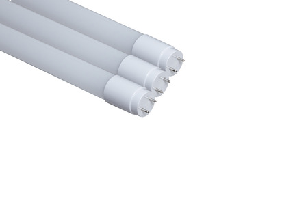 T8 LED tube light on isolated ,white black ground Standard-Bild - 115244057