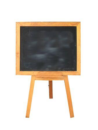 tablero negro de madera sobre fondo blanco Foto de archivo