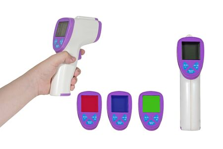 IR Thermometer (Infrared Thermometer) on white isolated background.